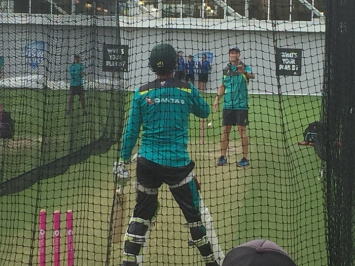 Tim Paine Cricket batting in the nets. News on the Australian Test Cricket Team.