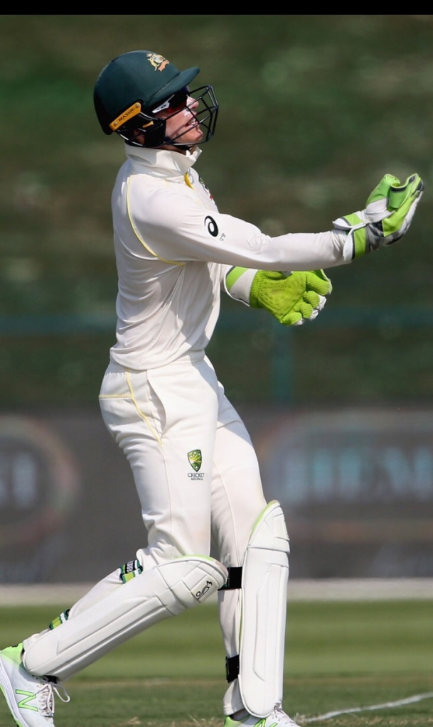 Australian wicket keeper Tim Paine doing his best in trying conditions of UAE. Australia facing Pakistan in 2 Test Series October 2018